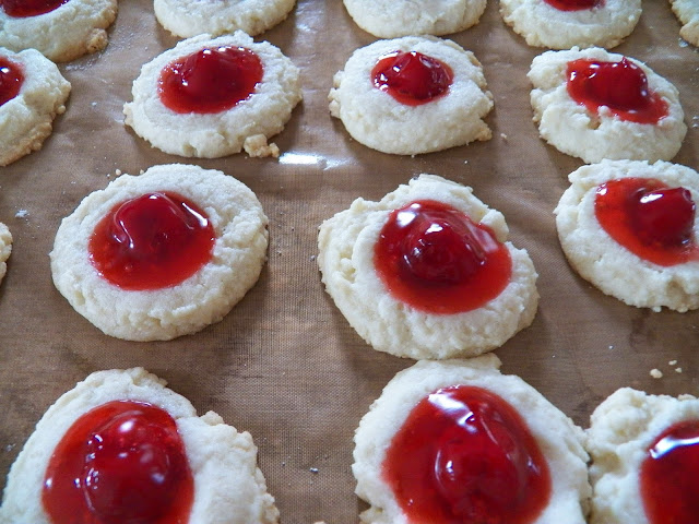 Cherry Pie Shortbread Thumbprint Cookies