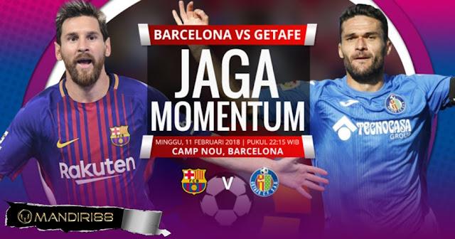 Prediksi Barcelona Vs Getafe, Minggu 11 February 2018 Pukul 22.15 WIB