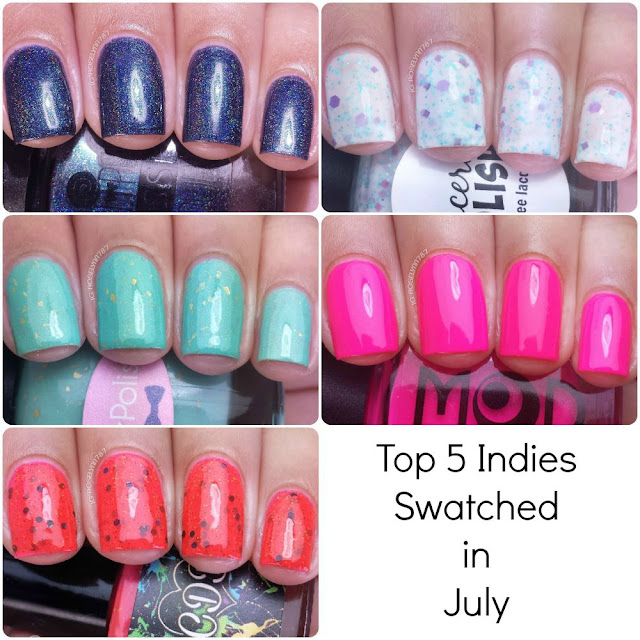 Top 5 Indies Swatched - July 2015