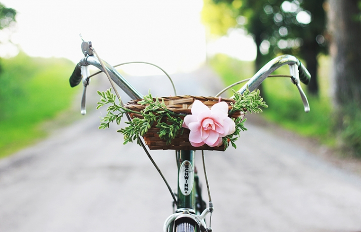 DIY Floral Bike Basket by the Merrythought