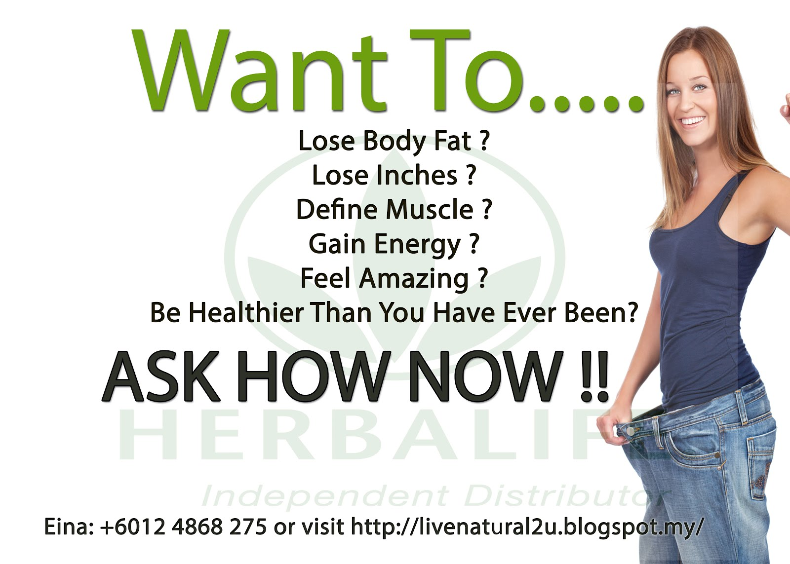 weight loss challenge flyer template - herbalife distributor penang