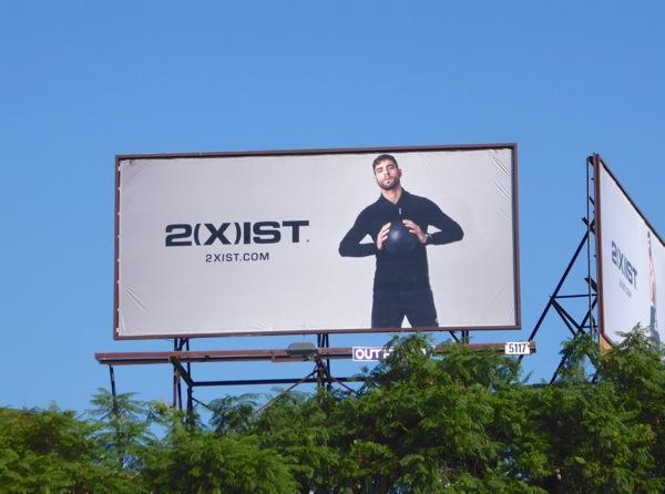 2Xist activewear FW16 soccer ball billboard