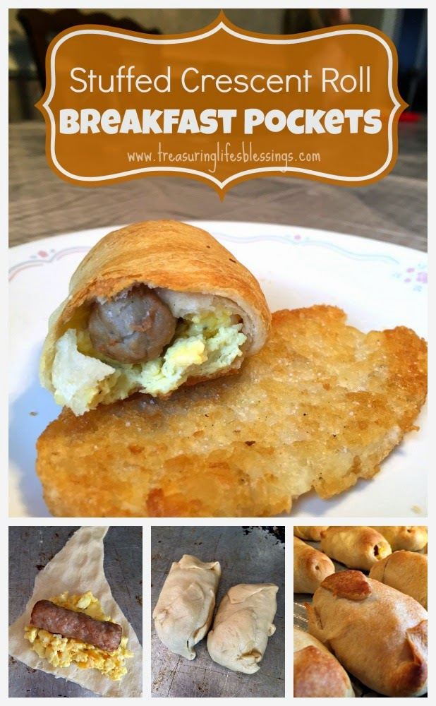stuffed crescent roll breakfast pocket