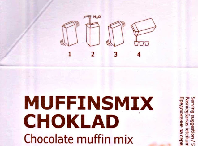 Ikea Muffinsmix Choklad - Ikea Chocolate Muffins Mix Directions On Packaging