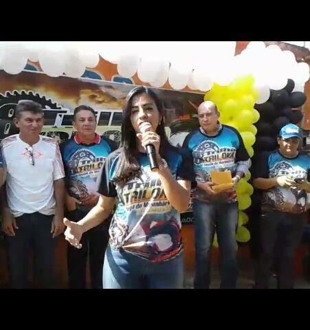 Daniella Tema participa do grande evento esportivo de raly em Amapá do Maranhão.