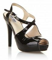 Audrey Black Patent Sandal