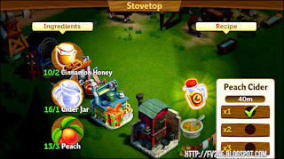 FarmVille 2: Country Escape, Peach, Jar, Cinnamon, HOney