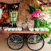 Mesa com rodas de bicicleta!