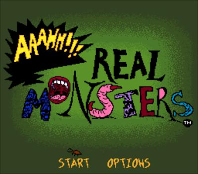 【SFC】怪物三人行(Aaahh! Real Monsters)原版+無限血、命、骨、吼版!