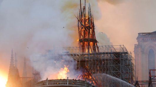 Images of Notre Dame Paris Massive Fire broken Out
