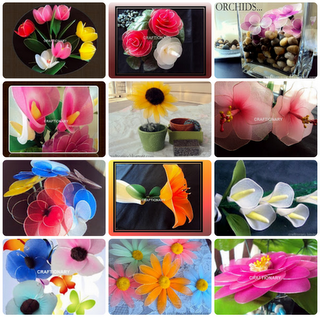 how to make nylon flower