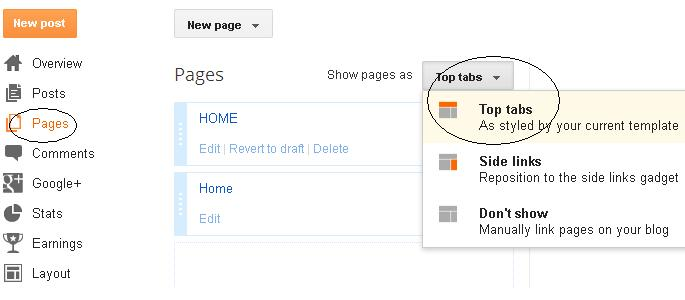 Go to -> Pages ->  Enable Show pages as Top Pages