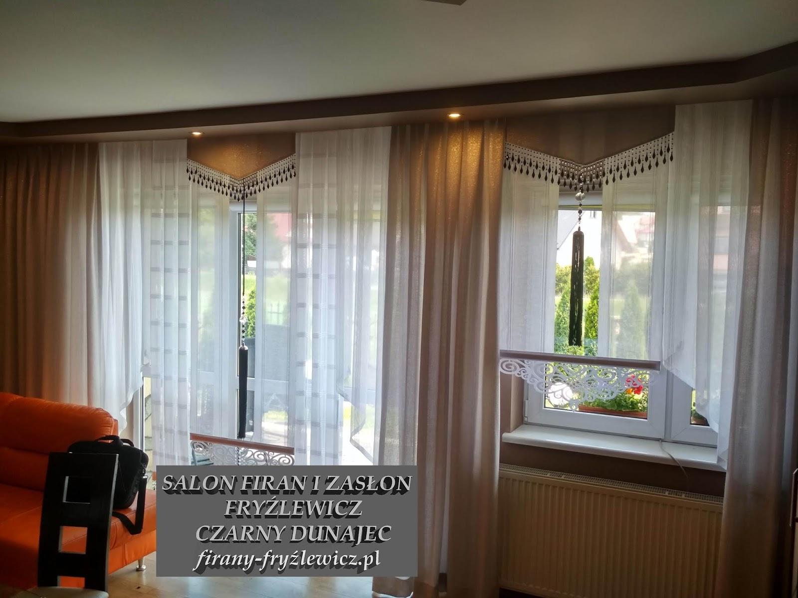 Firany Fryźlewicz Aranżacja Okna W Salonie