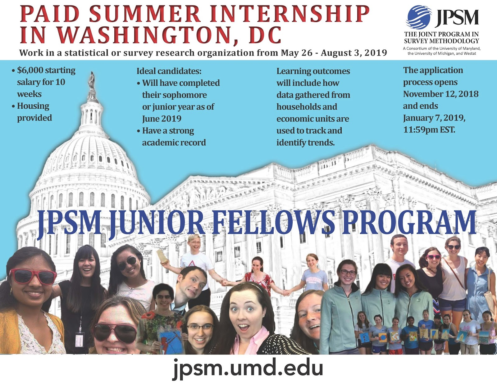 CCJS Undergrad Blog: Joint Program in Survey Methodology (JPSM) Paid