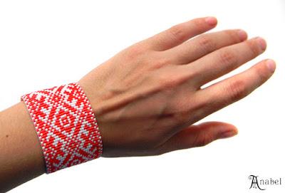 купить браслет из бисера этноика славянские украшения народный орнамент