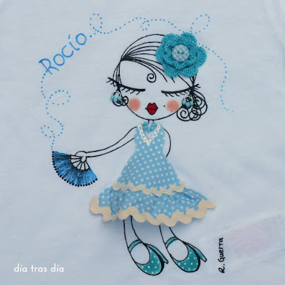 Camiseta flamenca personalizada