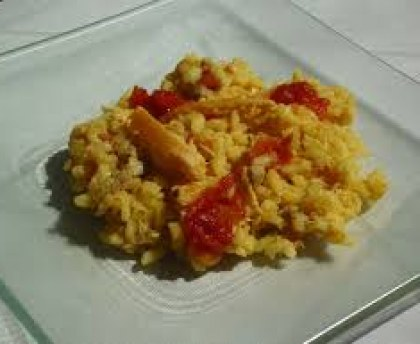 Chicken Risotto, Tomatoes and Parmesan