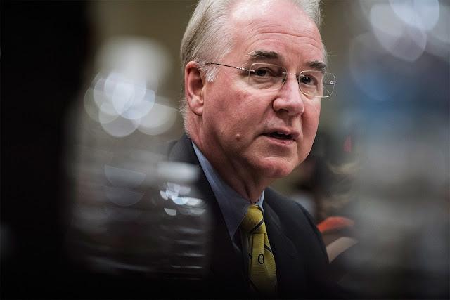 Tom Price renuncia ao cargo de secretário de Saúde e Serviços Humanos dos EUA.