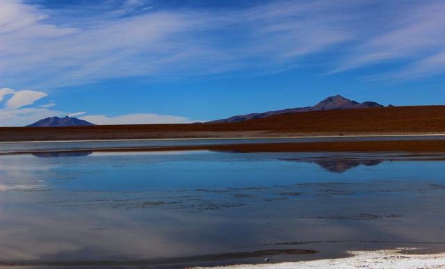 La Laguna Hedionda Sur, primera parada del recorrido del tercer día por el suroeste de Bolivia