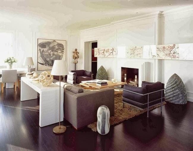 Salas modernas y elegantes colores en casa for Sala de estar oscura