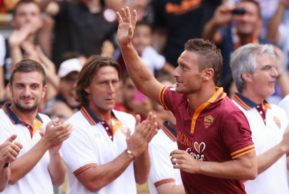 Francesco Totti has made over 500 appearances for Roma since joining the club as a teenager