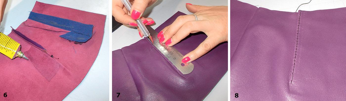 Обработка вытачек в кожаных изделиях
