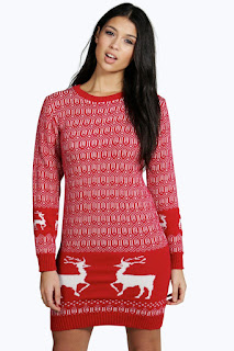 Boo Hoo, Jumper Dress, Christmas Jumper, Mrs Santa Claus, Lyst