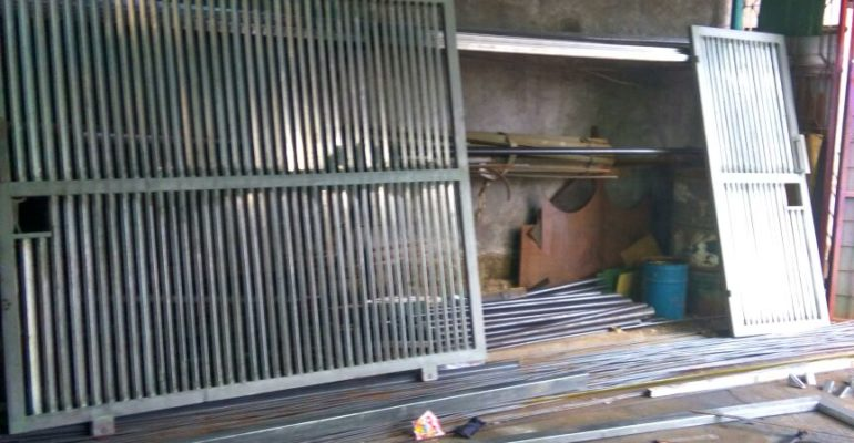 pasang baja ringan di jambi jasa tukang las kanopi & pagar (besi, stainless steel ...