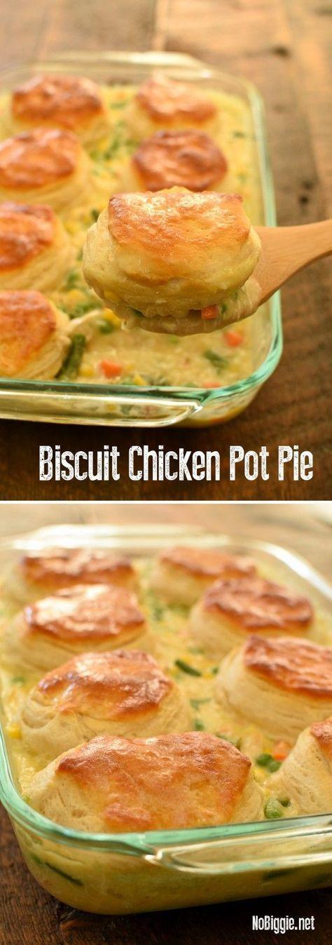 Biscuit Chicken Pot Pie #biscuit #chicken #chickenrecipes #potpie #dinner #dinnerideas #dinnerrecipes
