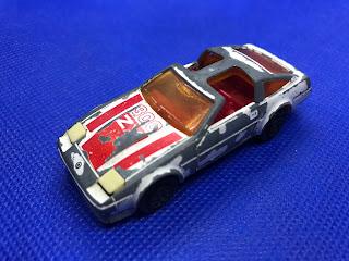 日産 フェアレディZX ターボのおんぼろミニカーを斜め前から撮影