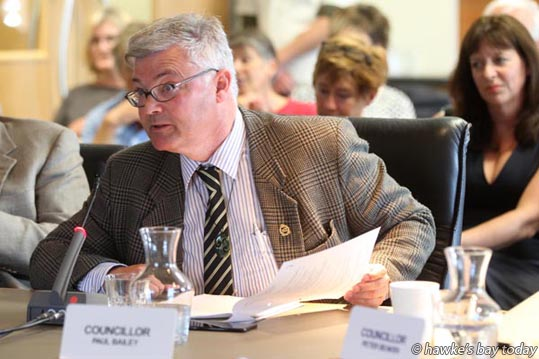 New Cr Paul Bailey, Napier, at the first meeting of the new Hawke's Bay Regional Council, Napier. photograph