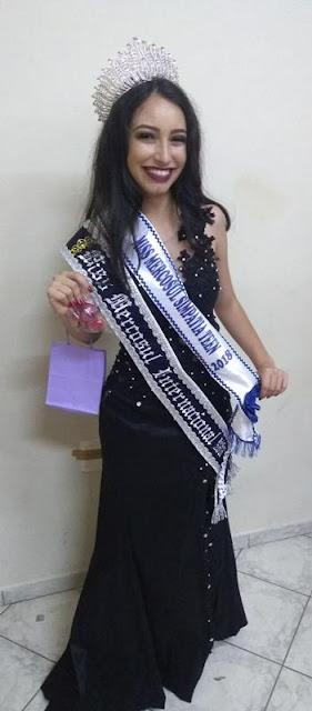 Registrense Isabelly Pes vence o Miss Mercosul internacional e Miss simpatia