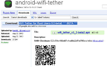 Android Wi-fi Tether App Preview