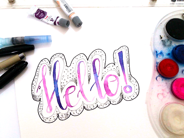 Hello Lettering Ink and Watercolor