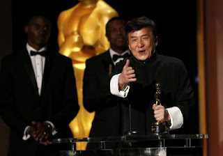 After 200 movies Jackie Chan wins his first ever honorary Oscar