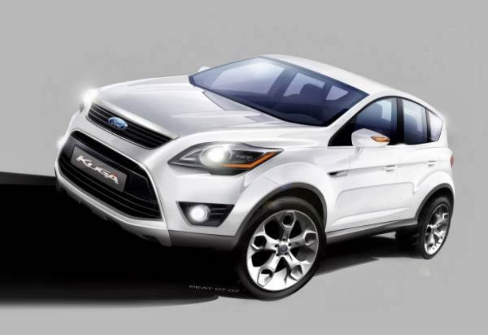 2014 ford kuga europe wallpaper black and white automotive. Black Bedroom Furniture Sets. Home Design Ideas