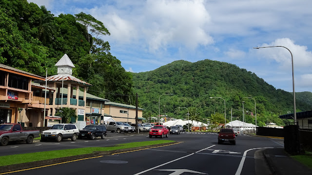 Small town with most shops and restaurants