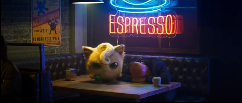 POKÉMON Detective Pikachu 2019 Movie featuring Live action Jigglypuff
