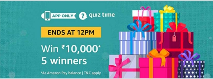 Amazon Pay Quiz Contest Answers 21st November [8:00am To 12pm]  Answer and Win Rs. 10000 Amazon Pay Balance