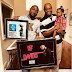 Wow! Davido With His Dad And Daughter Pose With His Music Plaques (Photo)