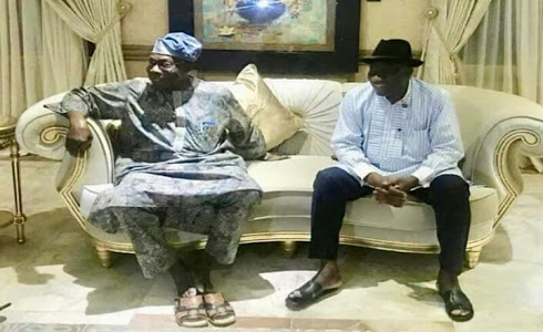 Obasanjo Meets Jonathan At His Home In Otuoke (Photos)