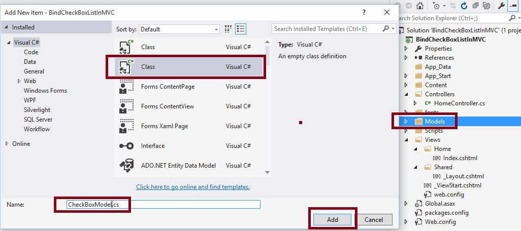 Getting CheckBox Values In ASP NET MVC Controller