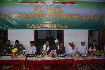 Pangdam V Brawijaya Jalin Tali Silaturahmi Dengan Para Ulama di Trenggalek