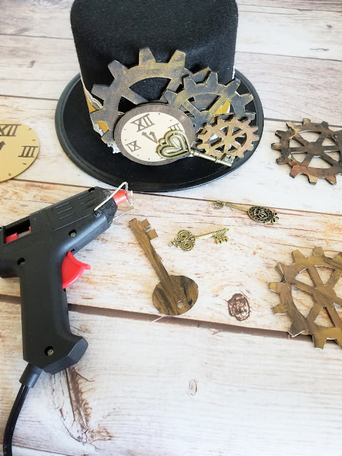 how to make a steampunk hat and hair accessory