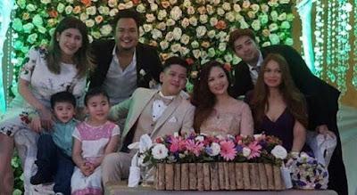 Roxanne Guinoo Joross Gamboa and wife attend Joseph Bitangcol's Wedding