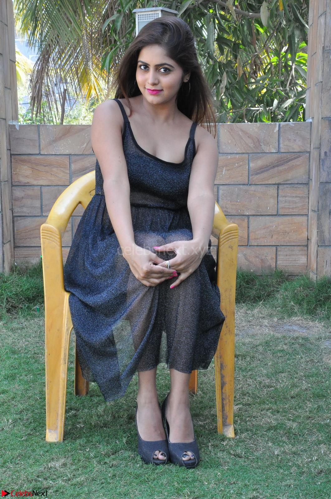 Pragya Nayan New Fresh Telugu Actress Stunning Transparent Black Deep neck Dress ~ CelebsNext Exclusive Galleries