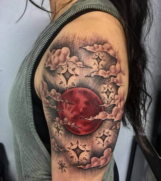 red moon tattoo - photo #5