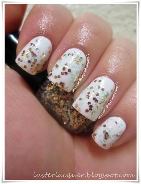 Luster Lacquer Abstract Nail Art: Luster Lacquer: Love, Angeline (Review & Swatches