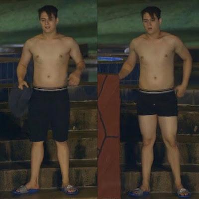Enrique Gil topless in Dolce Amore