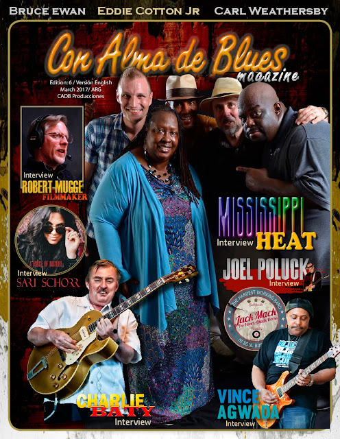 "NEW!! ""Con Alma de Blues Magazine"" English edition N°6 / March 2017/PDF"